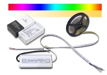 LED Strip RGB+CCT Zigbee IP64 dimmbare Lichtfarbe 2700-6500K + RGB mit Controller