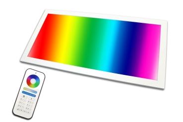 LED Panel RGB+CCT 60x30 PowerPlus 24 Watt  warmweiß bis kaltweiß dimmbar und alle 16 Mio. Farben mit Fernbedienung