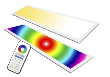 LED Panel RGB+CCT 120x30 plus WW+CW 60 Watt  mit Fernbedienung