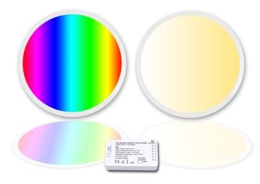 LED Panel RGB + CCT 60cm rund WhiteRainbow 36 Watt  warmweiß/kaltweiß dimmbar und alle RGB Farben mit Zigbee flimmerfrei