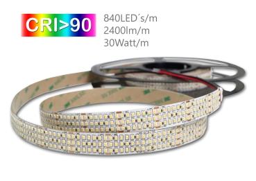 LED Strip CRI90 24Volt 2216 SMD 840St./m Lichtfarbe  5000K 5m Rolle
