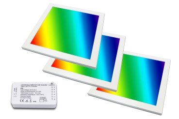 3er Set LED Panel RGB+CCT 30x30 PowerPlus 3x18 Watt  warmweiß bis kaltweiß dimmbar und alle 16 Mio. Farben mit Zigbee Controller