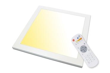 CCT LED Panel 18 Watt flimmerfrei warmweiß bis kaltweiß dimmbar Helligkeit bis 2070 Lumen und  Lichtfarbe 2800-6500K mit Fernbedienung 1 Set