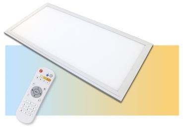 CCT LED Panel 60x30cm 36 Watt flimmerfrei dimmbar 3600 Lumen und Lichtfarbe 3000-6500K mit Fernbedienung