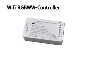 Wifi Tuya RGB+CCT Controller LED Dimmer GL-C-008W Gledopto DC12-24 Volt