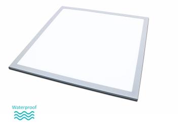 40 Watt LED Panel 60x60cm silber 4000K Feuchtraum IP65 wasserdicht