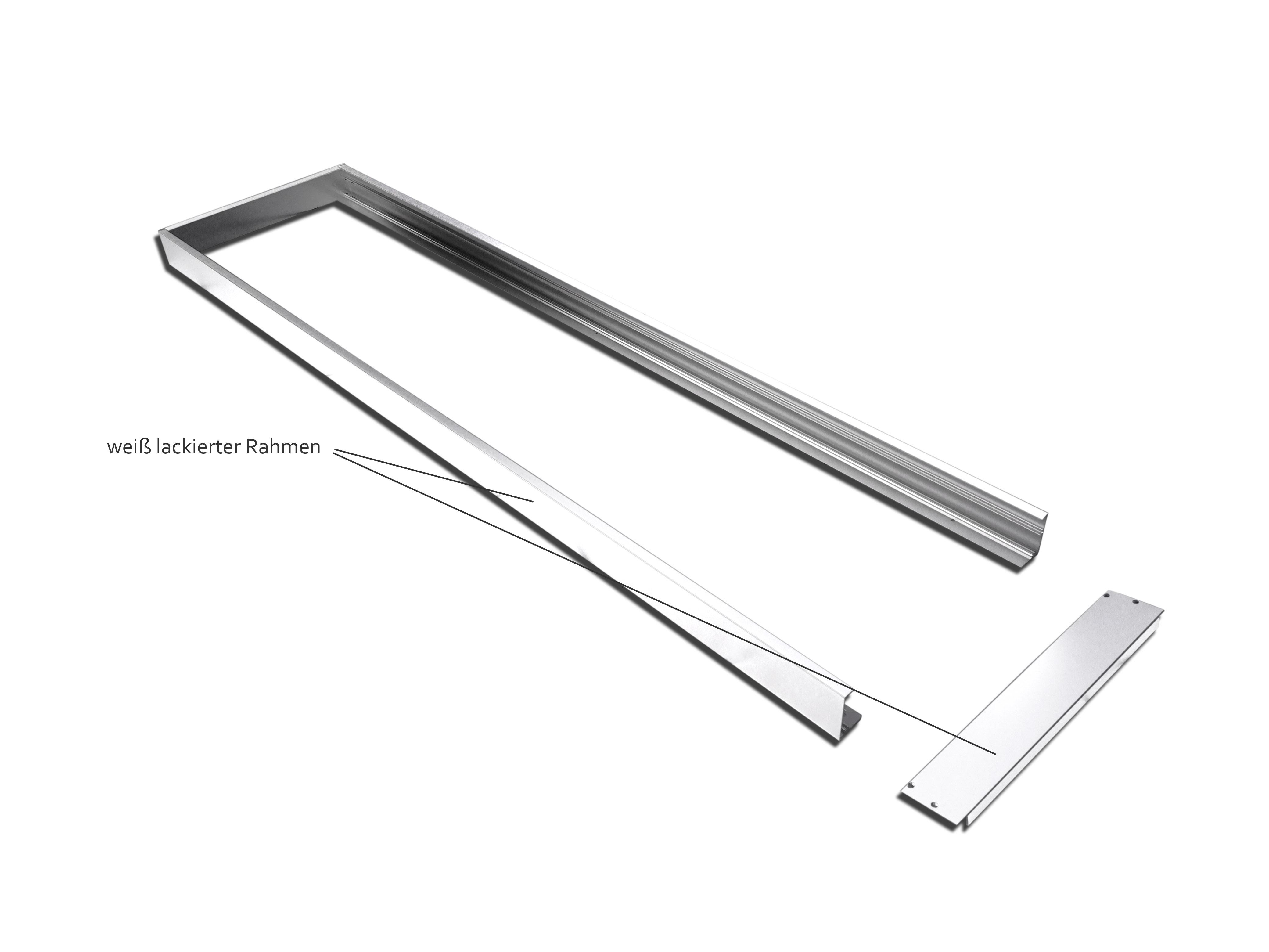 Extrem TXL24 - Alu Aufbaurahmen 120x30cm weiss für LED Panel für Decken TT18