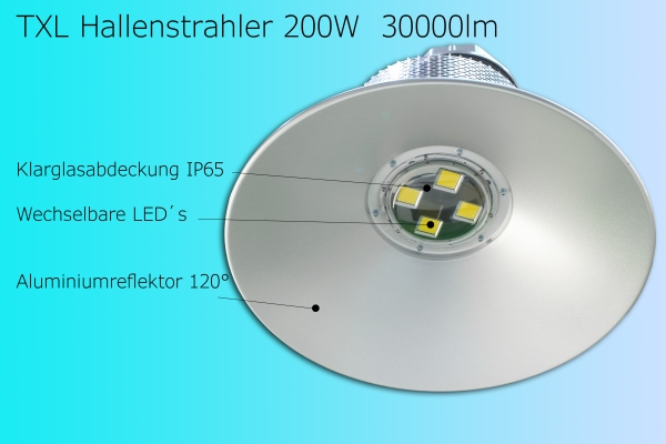 200 Watt LED Hallenstrahler Highbay